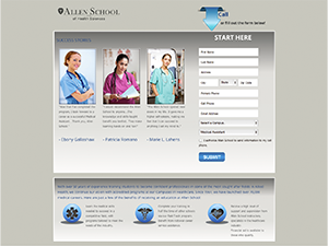 landing page project for Allen School