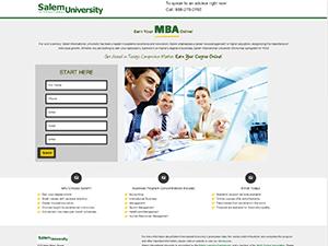 Salem University Landing page