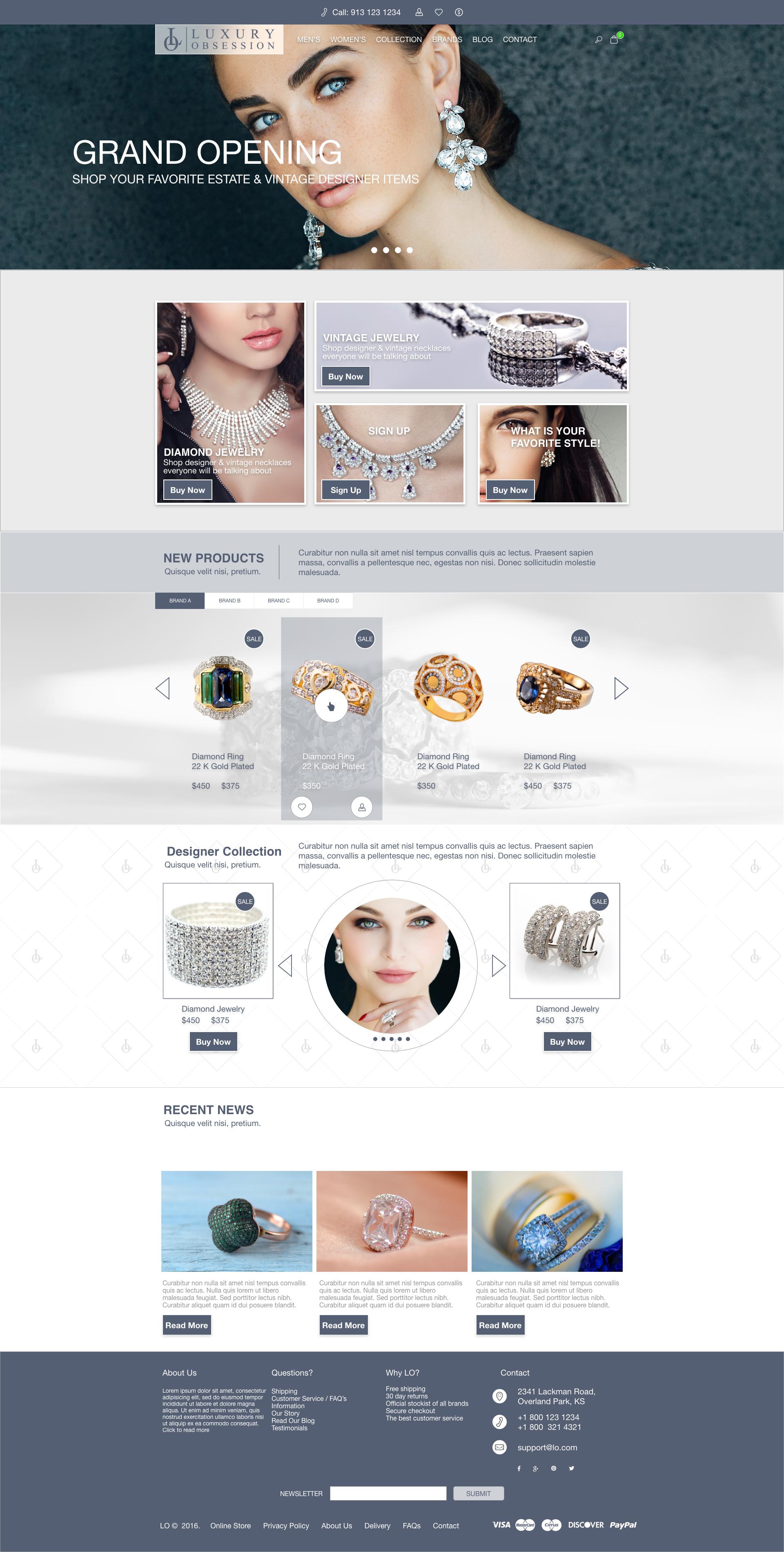 kunalamin.com LO home-page concept
